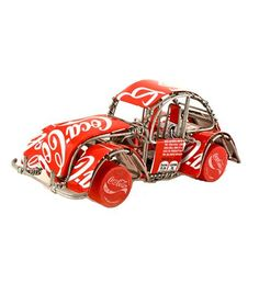 Artisans in Senegal, West Africa, craft these incredibly fun car sculptures from recycled wire and aluminum cans. Swahili sells these in a variety of colors.: