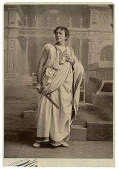 Napoleon Sarony. Edward Loomis Davenport as Brutus in Julius Caesar. Photograph, 1875. Folger Shakespeare Library.