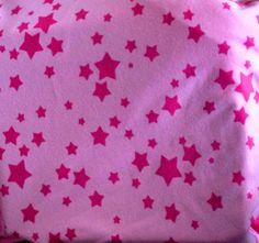 PINK STARS KNIT Fabric: Cotton Interlock Knit  -siu