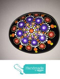 Hand Painted Mandala Stone #135 from Mafa Stones http://www.amazon.com/dp/B01DMMRXRU/ref=hnd_sw_r_pi_dp_-Kh.wb0BVSQG2 #handmadeatamazon