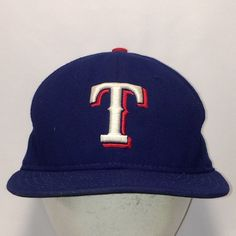 Vintage Texas Rangers New Era Stretch Fit Hat Size 7 MLB Baseball Cap Hats  For Men Blue White Red Ball Caps Made In USA Dad Hat T5 JN8037 b59e3306acd0