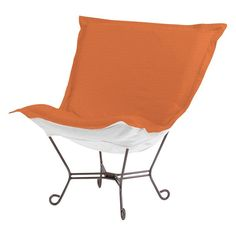 Outdoor Howard Elliott Seascape Scroll Puff Chair Canyon - Q500-297
