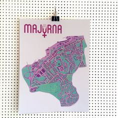 Feministiska Majorna 30x40. Design: Pop-in via Pop-in Majorna Local graphics