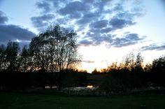 Dawn over Mecklenburg-Vorpommern.
