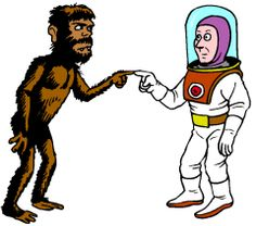 Did prehistoric man meet ancient astronauts?  That is unknown.  But maybe at the next costume party they can.