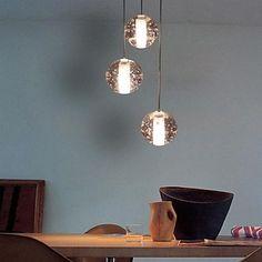Modern Pingente de Cristal Luz, 3 Luz, Crystal Ball metalização. – BRL R$ 363,29