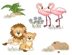 Details about Noah's Ark Animals Wall Mural Decal Baby Nursery Kids ...