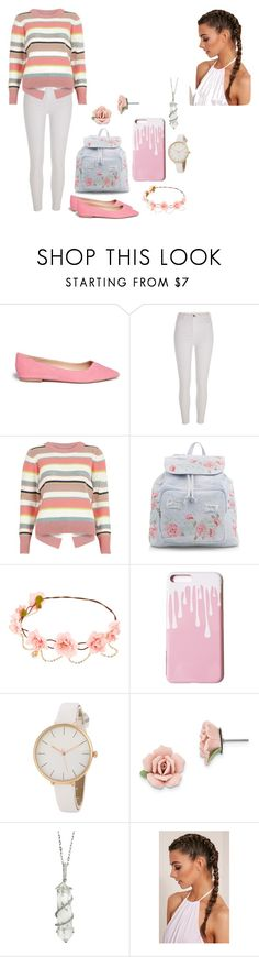 """""""untitled 12"""" by mikayla-payant ❤ liked on Polyvore featuring Sam Edelman, River Island, New Look, 1928 and Sharon Khazzam"""
