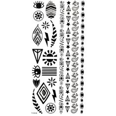 Grashine long last temporary tattoos Different jewelry totem look like real temporary tattoo stickers * More info could be found at the image url. (This is an affiliate link and I receive a commission for the sales) #TemporaryTattoos