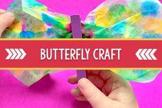 Coffee Filter Butterfly Craft for Preschool Preschool Monthly Themes, Preschool Crafts, Fun Crafts, Arts And Crafts, Pre K Pages, Butterfly Crafts, Teaching Kindergarten, Grandchildren, Filters