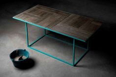 Wooden Concrete Handcrafted Table by Stefano Sagripanti