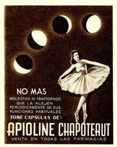 1948 Apioline anti menstrual pain capsules ad: Argentina (Para Ti mag)