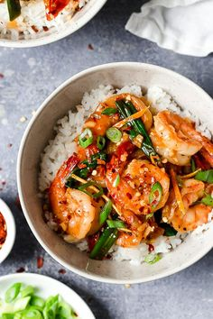 For a quick and easy weeknight stir-fry, you will love this easy Asian Honey Garlic Shrimp recipe! It's sweet, spicy, savory, and so good!!
