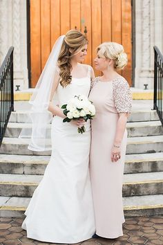 Pretty in pink! Ellie's Badgley Mischka gown (purchased at Nordstrom) added a touch of sparkle to her daughter Jacqueline's neutral-hued bash in St. Petersburg, Florida.