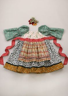 Tree Topper Longsleeve Peasant Dress