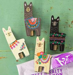 What better way to display pictures, important papers, invitations, and menus on your fridge than with this adorable set of magnet clips from Natural Life? Each