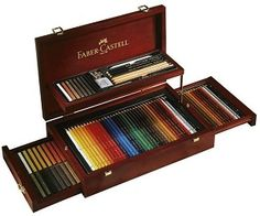 Faber-Castell Holzkoffer Künstlerartikel Collection 110086 for sale online Wooden Storage Boxes, Art Case, Pencil Boxes, Cool Inventions, Wooden Case, Watercolor Pencils, Drawing Tools, Pencil Art