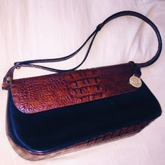 Authentic Brahmin Large Clutch/Bag Genuine leather Brahmin clutch. Perfect condition! Really great quality. This is a steal❤️Feel free to ask questions! Brahmin Bags Clutches & Wristlets