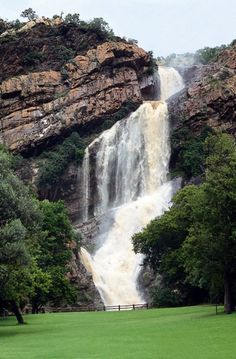 """Witpootjie Waterfall in the Walter Sisulu National Botanical Garden - Johannesburg, South Africa. One of the 9 national botanical gardens in the country. A great place for reflection / """"to break-away"""" in the northwestern suburbs of Jo'burg. Wonderful Places, Beautiful Places, National Botanical Gardens, Africa Destinations, Destination Wedding Locations, Wedding Places, Belleza Natural, Strand, Solo Travel"""