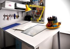 DIY drafting table (with, omg, a built in light box)