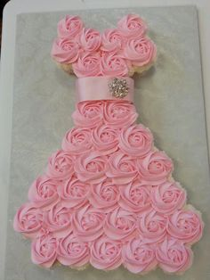 Brides Dress Cupcake Cake | Faux Wedding Cakes for Rent