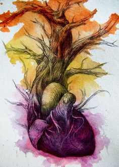 Abby Diamond- a heart turning into a tree. Changing from one thing to another