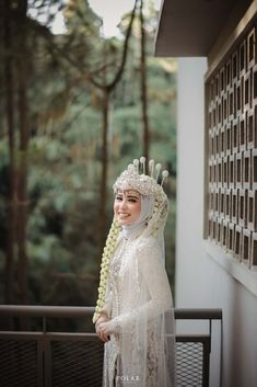 Kebaya Wedding, Muslimah Wedding Dress, Muslim Wedding Dresses, Muslim Brides, Dream Wedding Dresses, Bridal Hijab, Hijab Bride, Wedding Poses, Wedding Attire