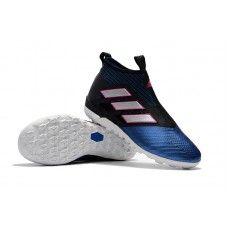 save off aeb9e 3cf42 Botas De Futbol Adidas ACE Tango 17+ Purecontrol TF Negro Blanco Azul Shop  Online
