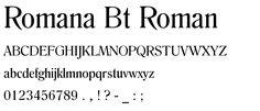 Romana BT Roman font