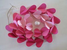 La Vie en Rose Paper Heart Garland by futtatinni on Etsy, $10.00