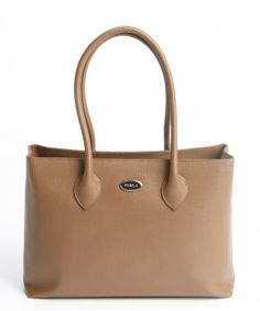 Furla : taupe leather 'Martha' medium shopper tote : style # 325258103