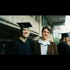 David Garrett and his brother at David's graduation at Julliard school.