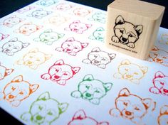 shiba inu stamp - need this for envelopes if we get a shiba inu!