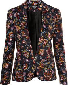 ShopStyle: Co-ord Tapestry Floral Blazer