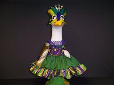 Large Goose Mardi Gras Dress