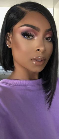 Lilac, Lavender, Brown Makeup, Purple Fashion, Glam Makeup, Makeup Looks, Make Up, Hair Styles, Beauty