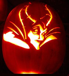 Disney-Themed Carvings: The Happiest Pumpkins on Earth - Maleficent