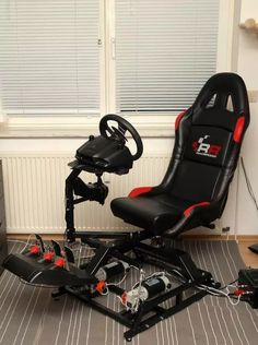 Used Chair Lifts For Stairs Computer Gaming Room, Gaming Room Setup, Gamer Chair, Game Room Furniture, Ergonomic Computer Chair, Recycled Plastic Adirondack Chairs, Racing Simulator, Video Game Rooms, Racing Seats