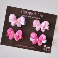 Baby Hair Clips  Toddler Hair Clips  Girls by CelesteandCompany, $9.95