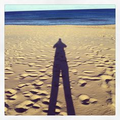 My shadow at the beach