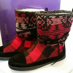 Madden Girl boots Buffalo plaid Madden Girl boots. Brand new and in the box. Madden Girl Shoes Ankle Boots & Booties