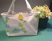 Upcycled Vintage Fabric Insulated Tote or Lunch Bag by UppityStuff
