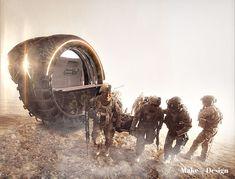 Concepto del vehículo Med-evacuación RollEvac militar para llevar a los soldados heridos al centro médico del ejército Tuvie | http://www.tuvie.com