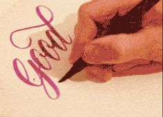 Holy ham sandwiches. | 16 Examples Of Handwriting So Good You'll Want To Slap Your Own Butt :: This is mesmerizing. I think I want to take up calligraphy now. ::