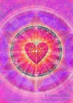 Love is the energy of the soul. Love is what heals the personality. There is nothing that cannot be healed by Love. There is nothing but Love --Gary Zukav (art; Love Is Sweet, Love Is All, Yoga Inspiration, Yoga Studio Design, Visionary Art, Guided Meditation, Love And Light, Pink Light, White Light