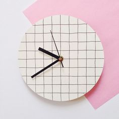 Small Hand Painted Wall Clock Mustard Yellow By