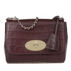 Mulberry Lily Crossbody Deep Embossed Croc Print Oxblood in rot  fefe35d980162
