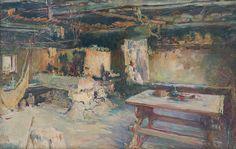 Ludvík Kuba - Black room in Čičmany / Čierna izba v Čičmanoch Black Rooms, European Countries, Marianne, Czech Republic, Master Art, Fine Art, Gallery, Painters, Drawings