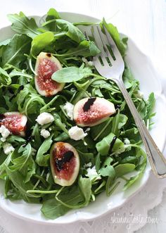 Fresh Fig and Arugula Salad with Goat Cheese