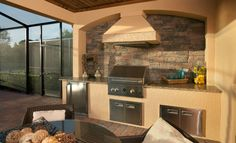 There's nothing like a barbeque in the summer, but this outdoor kitchen from @Lennar Southwest Florida is perfect year-round in the Sunshine State!